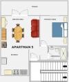 Plánek apartmánu