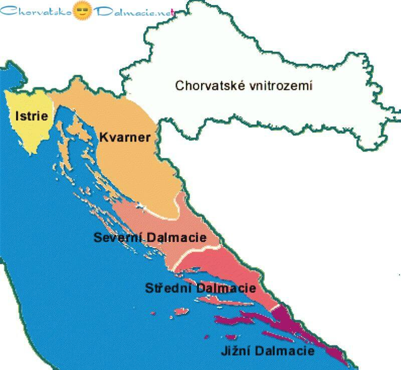 Mapa Chorvatsko Mapy